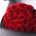 25 červených růží