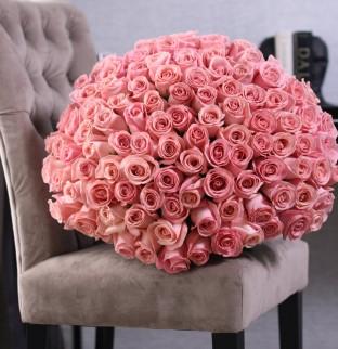 101 růžových růží