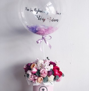 Art bouquet  with ballon