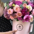 Kytice ART Pink v kloboukové krabici Grand