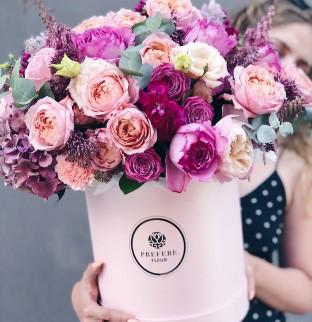 Букет ART Pink в шляпной коробке Pink