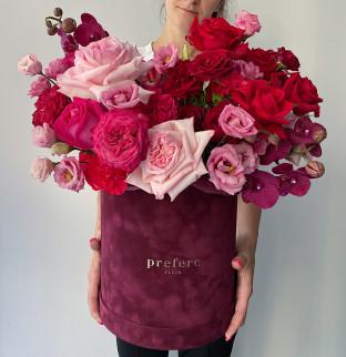 Art bouquet in a box #68