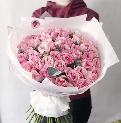 51 růžových růží Pink O'hara