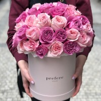 Roses mix in a hat box Grand