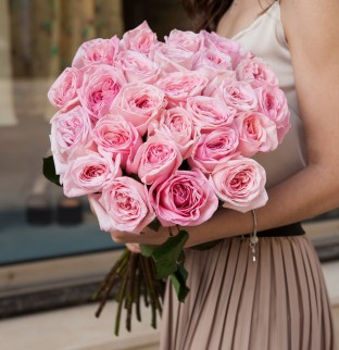 19 Пионовидных Роз Pink O'Hara
