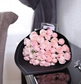 19 кремовых роз