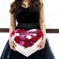 """Květiny Mix """"Srdce"""" v krabici #2"""