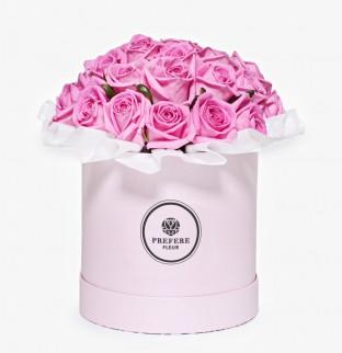 Pозы Aqua в шляпной коробке Demi Pink