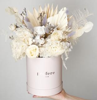 Вечные цветы в коробке #2