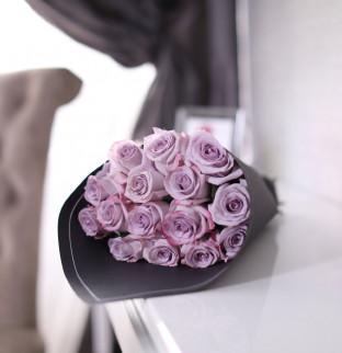 19 fialových růží