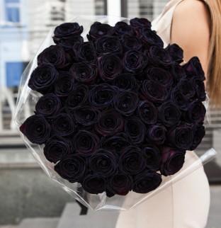 51 черная роза