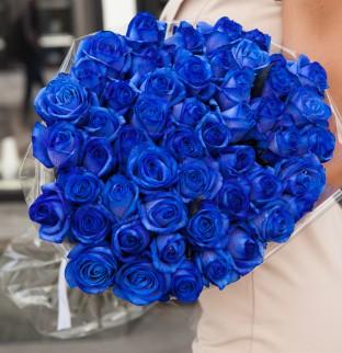 51 modrých růží