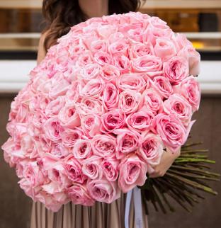 101 пионовидная розовая роза